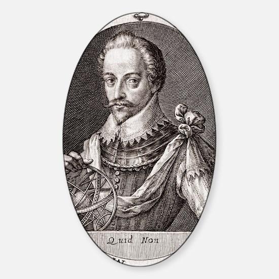 Sir Humphrey Gilbert, English explo Sticker (Oval)