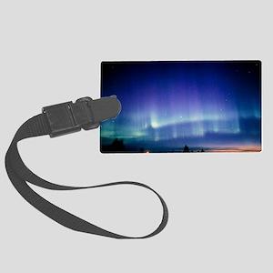 View of a colourful aurora borea Large Luggage Tag