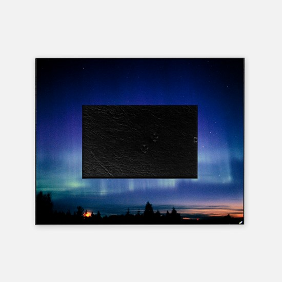 View of a colourful aurora borealis  Picture Frame