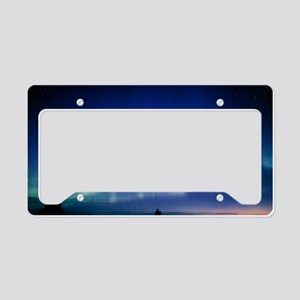 View of a colourful aurora bo License Plate Holder