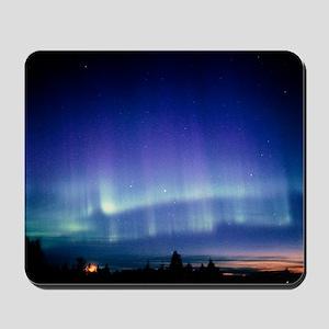 View of a colourful aurora borealis disp Mousepad