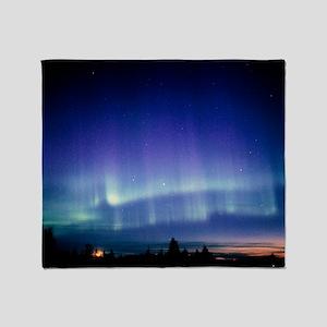 View of a colourful aurora borealis  Throw Blanket
