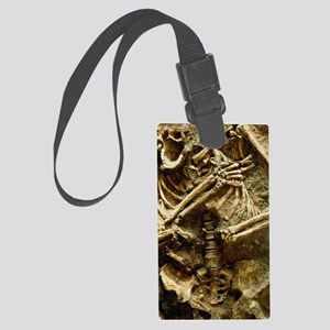 View of the skeleton of a neande Large Luggage Tag