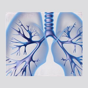 Lungs, computer artwork Throw Blanket