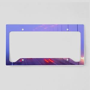 Vehicles driving through fog  License Plate Holder