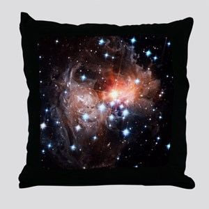Light echoes around star V838 Monocer Throw Pillow