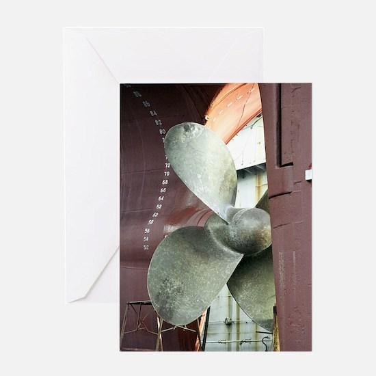 Ship's propeller Greeting Card