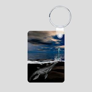Loch Ness monster, artwork Aluminum Photo Keychain