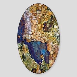 Sedimentary rocks Sticker (Oval)