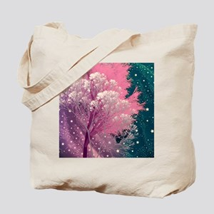 crazy trees pink Tote Bag