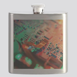 Laptop circuit board Flask