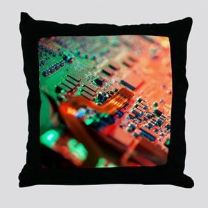 Laptop circuit board Throw Pillow