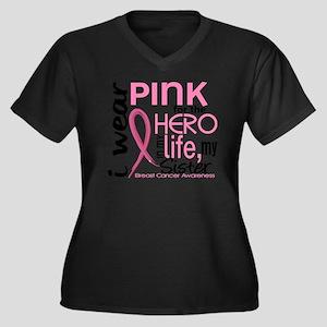 - Hero in Li Women's Plus Size Dark V-Neck T-Shirt