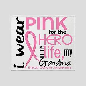 - Hero in My Life 2 Grandma Breast C Throw Blanket