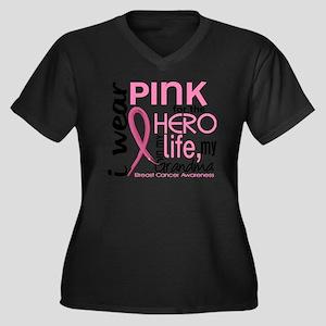 - Hero in My Women's Plus Size Dark V-Neck T-Shirt