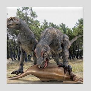 Tyrannosaurus rex dinosaurs Tile Coaster