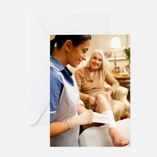 Leg ulcer treatment Greeting Card