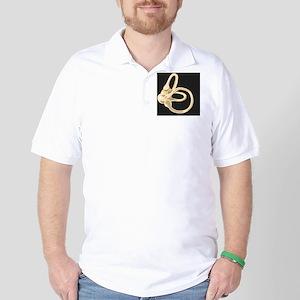 Semicircular canal, artwork Golf Shirt