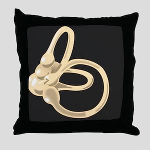 Semicircular canal, artwork Throw Pillow