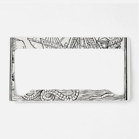 Sea serpent, 16th century art License Plate Holder