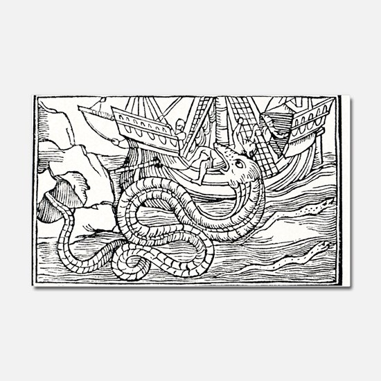 Sea serpent, 16th century artwo Car Magnet 20 x 12