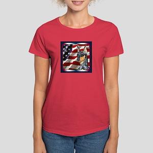 Miniature Pinscher US Flag Women's Dark T-Shirt