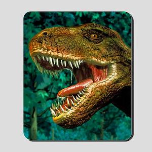 Tyrannosaurus rex dinosaur head Mousepad