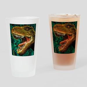 Tyrannosaurus rex dinosaur head Drinking Glass