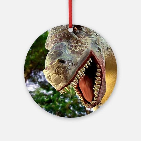 Tyrannosaurus rex dinosaur Round Ornament