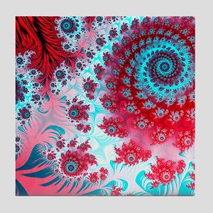 Julia fractal Tile Coaster