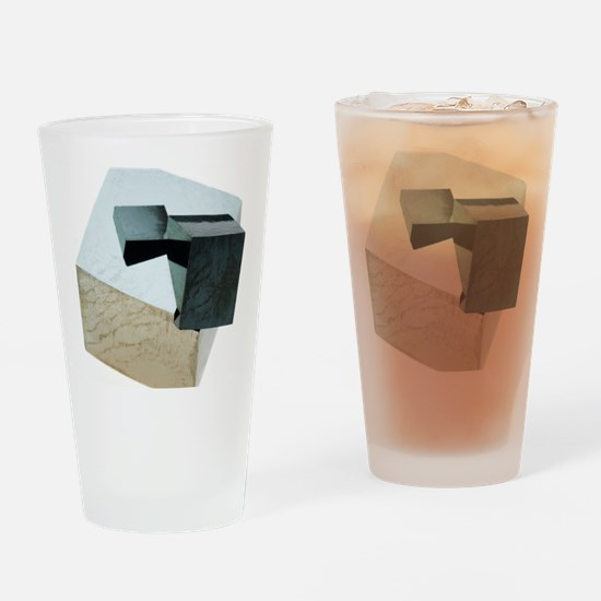 Iron pyrite crystals Drinking Glass