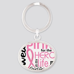 - Hero in My Life 2 Girlfriend Breas Oval Keychain