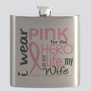 - Hero in Life Wife Breast Cancer Flask