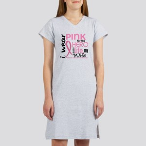 - Hero in Life Wife Breast Canc Women's Nightshirt