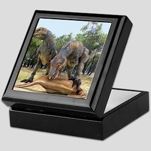 Tyrannosaurus rex dinosaurs, artwork Keepsake Box