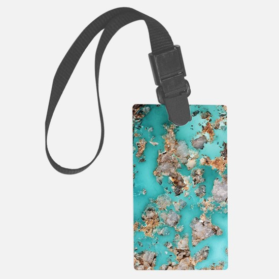 Turquoise mineral Luggage Tag