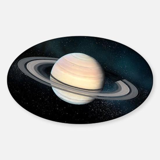 Saturn, artwork Sticker (Oval)