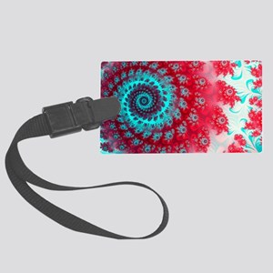 Ju lia fractal Large Luggage Tag