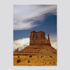 Sandstone Butte, Monument Valley 5'x7'Area Rug