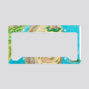 Types of islands License Plate Holder