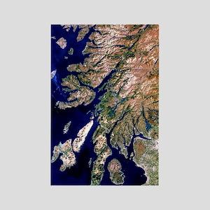 True-colour satellite image of we Rectangle Magnet