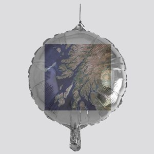 True-colour satellite image of weste Mylar Balloon