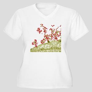 Influenza viruses Women's Plus Size V-Neck T-Shirt