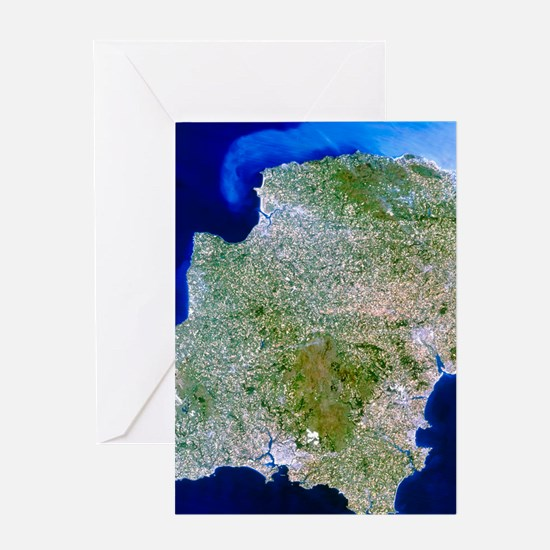 True-colour satellite image of south Greeting Card