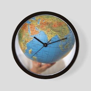 Inflated Earth globe Wall Clock