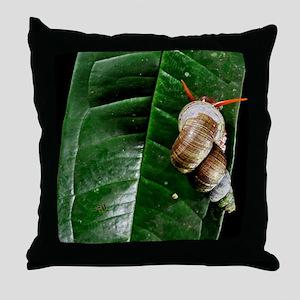 Tropical snail Throw Pillow