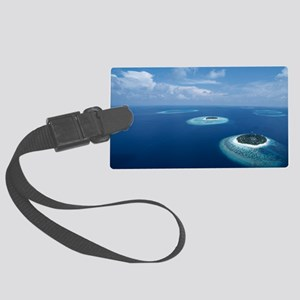 Tropical islands Large Luggage Tag