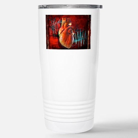 Human heart, artwork Stainless Steel Travel Mug