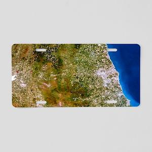 True-colour satellite image Aluminum License Plate
