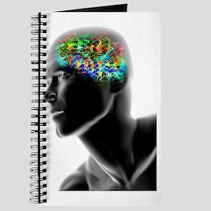Human head with brainwaves Journal